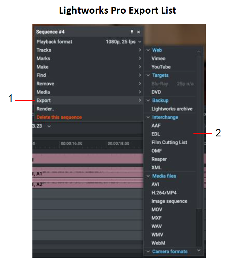 Exporting a Clip, Subclip, or Sequence